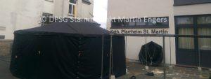 Neue Zeltkonstruktion und neuer Grill